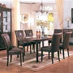 Soho 7 Piece Dining Set in Cherry Finish by Coaster - 3651-BR