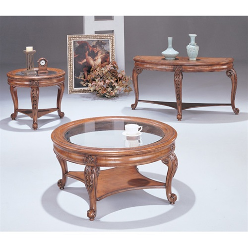 Distressed Coffee Table Sets: Distressed Finish Coffee Table By Coaster