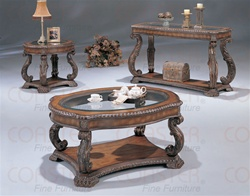 2 Piece Accent Table Set in Antique Distressed Finish by Coaster - 3891S