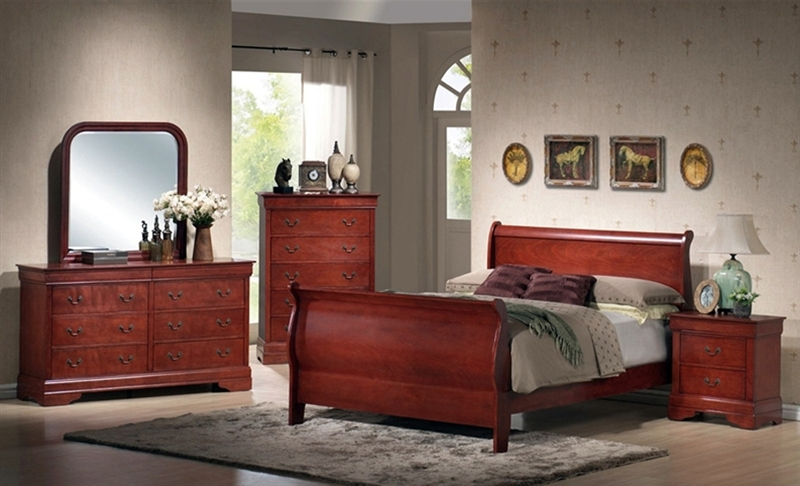 Louis Philippe Nightstand in Cherry Finish by Coaster 3982N