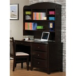 Phoenix Collection Bedroom Furniture Computer/Student Desk with Hutch in Rich Deep Cappuccino Finish by Coaster - 400187