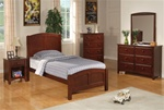 Parker 4 Piece Youth Bedroom Set in Brown Cherry Finish by Coaster - 400291