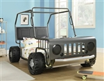 Casey Twin Jeep Bed in Black/Nickel Finish by Coaster - 400371