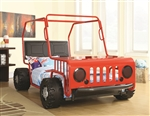 Casey Twin Jeep Bed in Red/Black Finish by Coaster - 400372