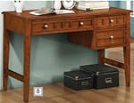 Aiden Writing Desk in Warm Medium Brown Finish by Coaster - 400427