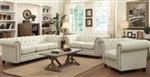 Roy 2 Piece Sofa Set in Oatmeal Fabric by Coaster - 40554-S