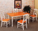 Country Napoleon Chair 5 Piece Dining Set in Two Tone Finish by Coaster - 4117
