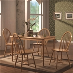 5 Piece Dining Set in Natural Finish by Coaster - 4347