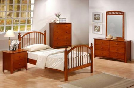 Canyon Ridge Collection Bedroom Furniture Computer Desk With Hutch In Distressed Oak Finish By