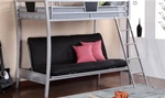 Futon Bunk Bed in Silver Finish by Coaster - 460024