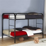 Metal Full/Full Bunk Bed in Black Finish by Coaster - 460056K