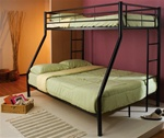 Twin/Full Bunk Bed in Black Finish by Coaster - 460062B