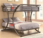 Full Full Bunk Bed in Gunmetal Finish by Coaster - 460078
