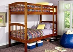 Twin Bunk Bed in Oak Finish by Coaster - 460173