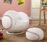 Small Baseball Chair and Ottoman by Coaster - 460177