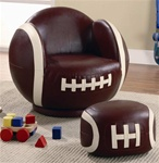 Small Football Chair and Ottoman by Coaster - 460179