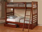 Casual Style Twin Bunk Bed in Cherry Finish by Coaster - 460193