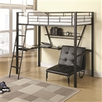 Twin Workstation Loft Bed and Convertible Chair by Coaster - 460198