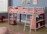 Sadie Twin Loft Bed in Pink Finish by Coaster - 460200