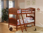 Twin/Twin Bunk Bed in Dark Pine Finish by Coaster - 460203