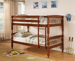 Twin/Twin Bunk Bed in Medium Pine Finish by Coaster - 460223