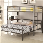 Twin Full Metal Workstation Loft Bed by Coaster - 460229-SET