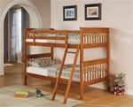 Twin/Twin Bunk Bed in Distressed Pine Finish by Coaster - 460233