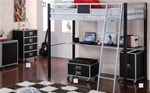 LeClair Black and Metal Twin Loft Bed by Coaster - 460281