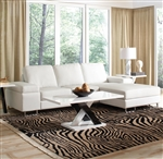 Avila White Bonded Leather Sectional by Coaster - 500048