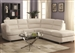 Chaisson White Leather Sectional by Coaster - 500080
