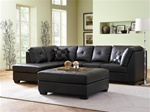 Darie Black Leather Sectional by Coaster - 500606