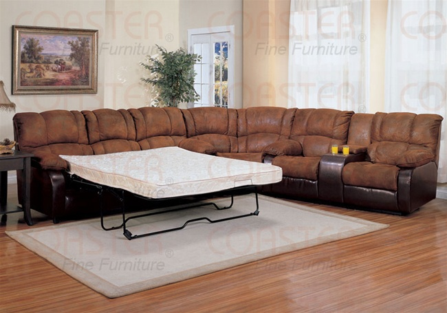 Ronan 3 Piece Sectional Set With Queen Sofa Sleeper In Two Tone Cover  Combination By Coaster   500623S