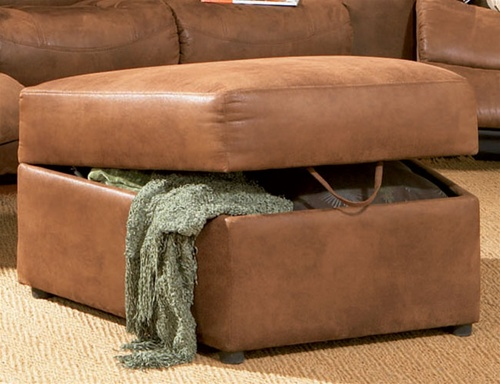 Contemporary Rust Ottoman From The Jackson Collection By