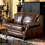 Princeton Leather Loveseat by Coaster - 500662