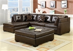 Darie Brown Leather Sectional by Coaster - 500686