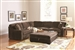Luka Sectional in Coffee Bean Velvet Upholstery by Coaster - 500703