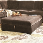 Luka Storage Ottoman in Coffee Bean Velvet Upholstery by Coaster - 500704