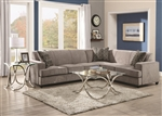 Tess Queen Sleeper Sectional in Grey Fabric by Coaster - 500727