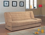 Storage Sofa Bed in Tan Microfiber Cover by Coaster - 500781