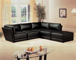 Kayson 5 Piece Black Leather Sectional by Coaster - 500891