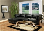 Kayson 4 Piece Black White Leather Sectional by Coaster - 500893
