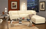 Kayson BUILD YOUR OWN Sectional White Leather by Coaster - 500894-M