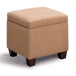Accent Microfiber Cube Ottoman by Coaster - 500901