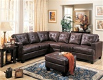 Samuel 4 Piece Dark Brown Bonded Leather Sectional Sofa by Coaster - 500911S