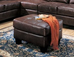 Samuel Dark Brown Bonded Leather Ottoman by Coaster - 500912