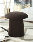 Chocolate Swivel Mushroom Ottoman by Coaster - 500917