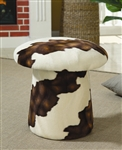 White and Brown Swivel Mushroom Ottoman by Coaster - 500918