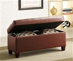 Vinyl Upholstered Storage Bench with Accent Pillows by Coaster - 500977