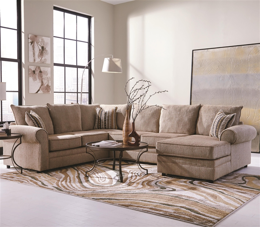Westwood 3-Piece Chenille Sectional By Coaster