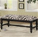 Zebra Print Accent Bench by Coaster - 501005